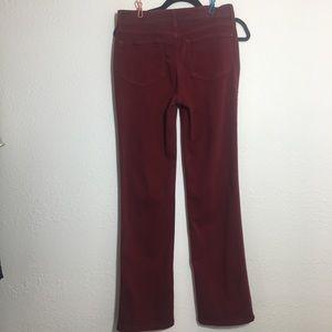 NYDJ Jeans - NYDJ Red/Maroon Marilyn Straight Leg Jeans